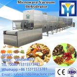 Continuous tunnel type foodstuff microwave drying and sterilizing machine